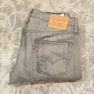 Levi's gray denim jeans